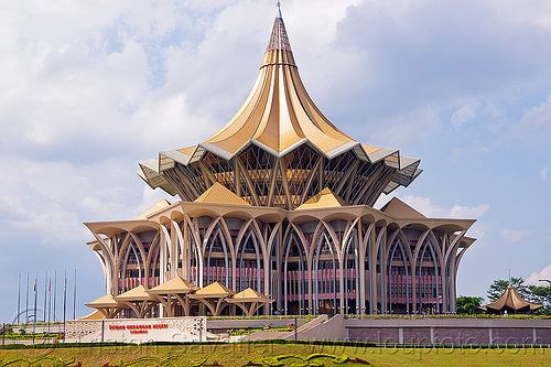 sarawak new parliament building in kuching (borneo), architecture, building, kuching, parliament