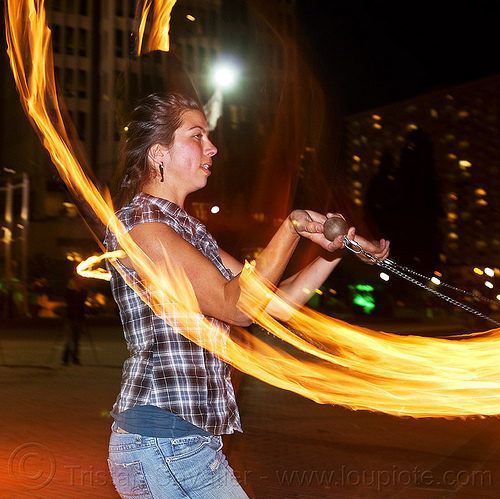savanna spinning fire poi, fire dancer, fire dancing, fire spinning, flame, night, woman