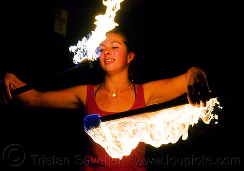 savanna spinning fire staffs, double staff, fire dancer, fire dancing, fire performer, fire spinning, fire staffs, fire staves, flame, night, savanna, spinning fire, woman