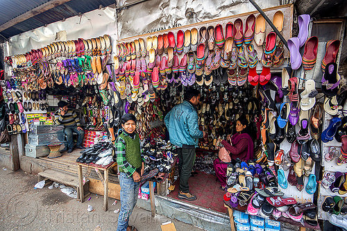 shoe stores display - darjeeling (india), darjeeling, india, merchant, selling, shoes, shop, store, street seller, vendor