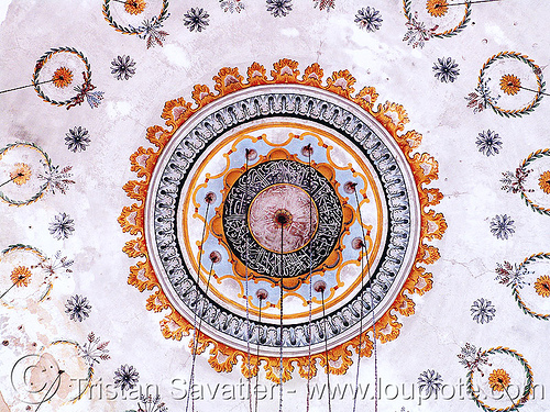 shumen-mosque - decorated ceiling (bulgaria), arabian, islam, religion, shumen, българия
