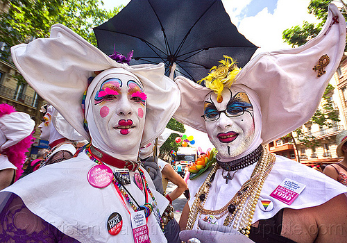 sisters of perpetual indulgence from the paris convent, drag, gay pride, makeup, men, nun, paris, sisters of perpetual twoindulgence, two