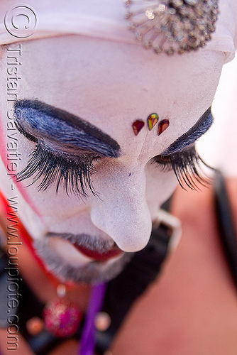 sisters of perpetual indulgence - novice sister eden asp, bindis, drag, eden asp, eyelashes, makeup, man, novice, sisters of perpetual indulgence