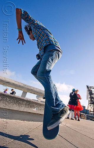 skateboarder - karl watson - superhero street fair (san francisco), freestyle, islais creek promenade, jump, karl watson, man, skateboard, skateboarder, skateboarding, superhero street fair