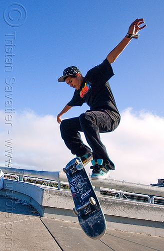 skateboarder - superhero street fair (san francisco), freestyle, islais creek promenade, jump, man, skateboard, skateboarder, skateboarding, superhero street fair