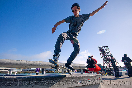 skateboarder - superhero street fair (san francisco), freestyle, islais creek promenade, jump, man, people, skateboard, skateboarding