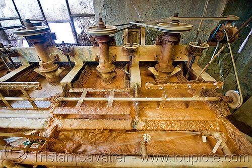 sludge - ore processing plant - silver mine - potosi (bolivia), cerro rico, factory, machine, mina candelaria, mine, mining, ore processing plant, potosí, sludge