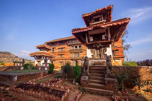 small temples near nuwakot palace (nepal), nuwakot durbar, saat taale durbar