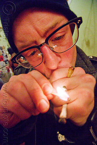 smoking too much, cigarettes, eyeglasses, eyewear, fire, hands, lighter, lit match, man, matt, prescription glasses, smoker, smoking, spectacles