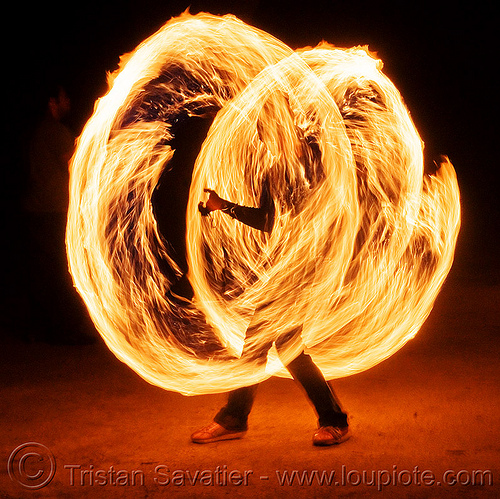 spinning fire ropes, circle, darby, fire dancer, fire dancing, fire performer, fire ropes, fire spinning, night, ring, solar flare