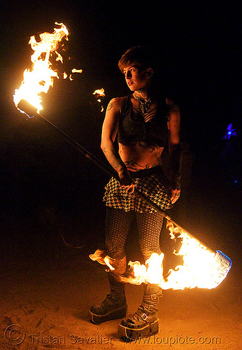 My friend Leah is a San Francisco tattoo artist and fire performer.