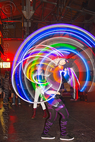 spinning LED hoops, cell space, glowing, hooper, hula hoop, led hoops, led lights, light hoop, night, stefanie dreamzzz, woman