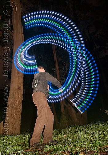 spinning staff with LED lights, full moon party, glowing, golden gate park, led lights, led staff, light staff, man, night, spinning staff