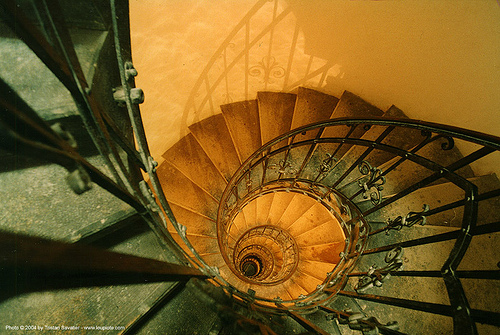 spiral stairs, basilica, budapest, cathedral, church, circular stairs, perspective, saintstephen, st stephen cathedral, stairwell, vanishing point