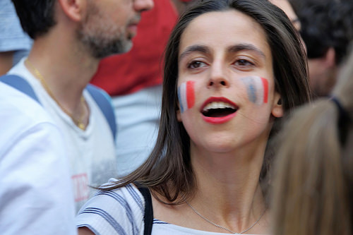 (3), allez les bleus, bleu blanc rouge, celebration, coupe du monde de football 2018, crowd, dancing, fifa, french flags, on a gagné, paris, soccer, street party, world cup 2018