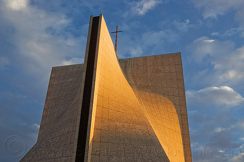 st mary's cathedral (san francisco), architecture, building, church, clouds, concrete, cross, modern, roof, st mary's cathedral