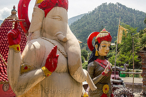 statue of ganesha in pilot baba ashram on road to gangotri (india), bhagirathi valley, ganesh, ganesha, hinduism, india, pilot baba, sculpture, statue