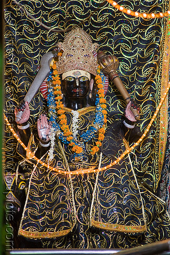 statue of hindu deity - delhi (india), black, deity, delhi, hindu god, hinduism, statue