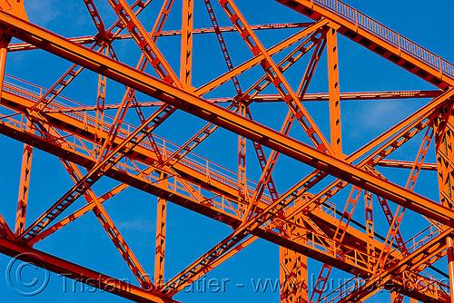 steal truss - lift bridge detail, buenos aires, la boca, metal, movable bridge, puente nicolas avellaneda, puente nicolás avellaneda, riachuelo, río la matanza, río matanza, steel, truss, vertical lift bridge