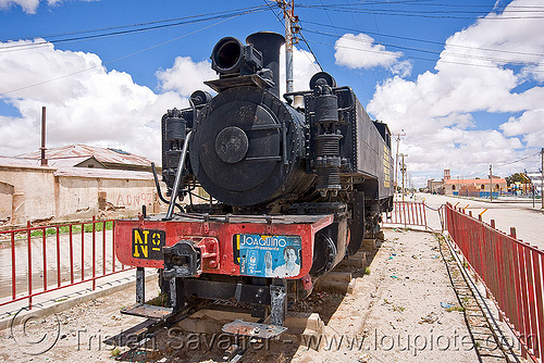 steam locomotive monument - uyuni (bolivia), enfe, monument, railroad, railway, rainroad, steam engine, steam locomotive, steam train engine, uyuni