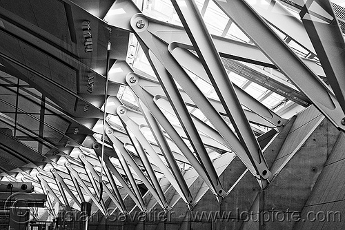 steel beams - toronto pearson international airport (canada), airport, architecture, beams, infrastructure, international terminal, metal, pearson, steel, structure, toronto, yyz