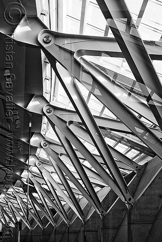 steel beams - toronto pearson international airport (canada), airport, architecture, beams, international terminal, pearson, steel, structure, toronto, yyz