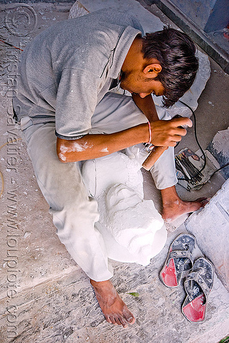 stonecarver, jaipur, people, stonecarvers, stonemasons