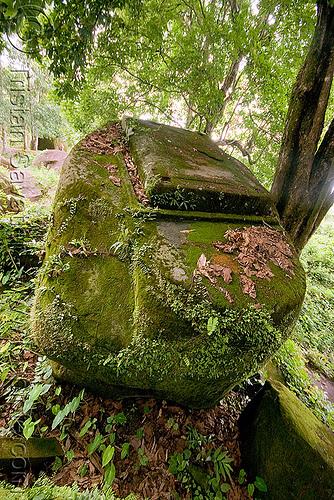 stone with rectangular carving - wat phu champasak (laos), hindu temple, hinduism, khmer temple, ruins, stone carving