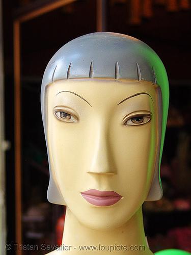 store dummy head, dummy head, mannequin, store dummy, vietnam dummy