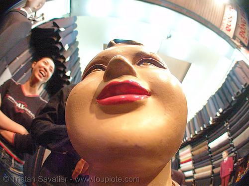 store dummy - vietnam, fisheye, hanoi, head, store dummy