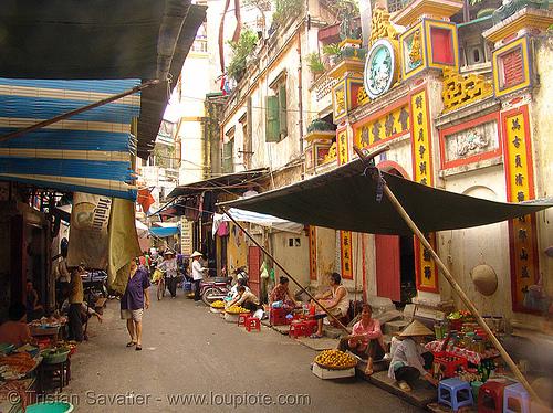 street market - vietnam, hanoi, street market
