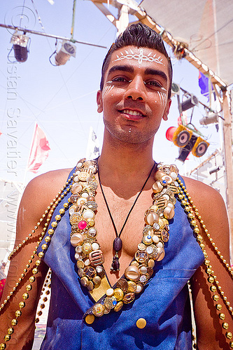suliman nawid - burning man 2012, beads, burning man, center camp, costume, facepaint, fashion, makeup, necklace, suliman nawid
