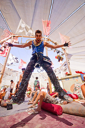 suliman nawid - burning man 2012, burning man, center camp, jump, jumpshot, suliman nawid