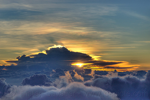 sunrise over the clouds, clouds, gunung semeru, indonesia, mount semeru, semeru volcano, summit