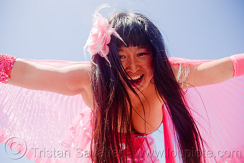 suzi chang - superhero street fair (san francisco), cleavage, islais creek promenade, pink, super hero, superhero street fair, suzi chang, woman