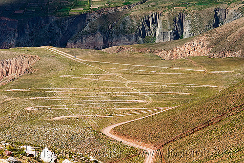 switchbacks - dirt road to iruya valley (argentina), argentina, curves, dirt road, iruya, mountains, noroeste argentino, quebrada de humahuaca, switchbacks, turns, unpaved, winding road