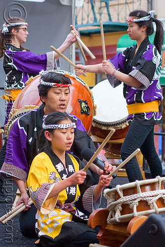 taiko drummers, asian woman, asian women, chinese new year, drummers, drumming, drumsticks, genryu arts, girl, japanese drums, lunar new year, taiko dojo