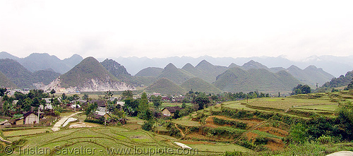 Tám Sơn landscape in northern vietnam - panorama, hills, mountains, panorama, quản bạ, tam son, tám sơn