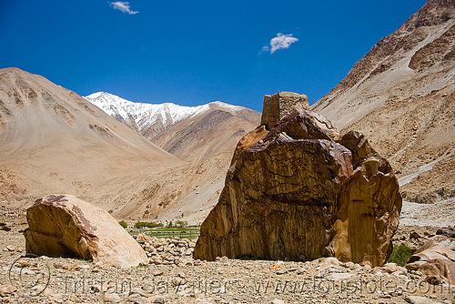 tangtse gompa (monastery) - road to pangong lake - ladakh (india), gompa, ladakh, mountains, tangtse, tibetan monastery