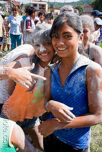 teenage girls - carnaval - carnival in jujuy capital (argentina), andean carnival, argentina, friends, jujuy capital, noroeste argentino, san salvador de jujuy, teenage girls, woman