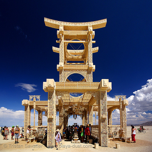 temple of forgiveness - burning man 2007, burning man, temple of forgiveness