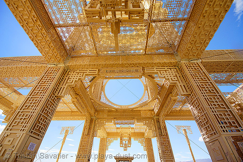 temple of forgiveness - burning man 2007, burning man, temple of forgiveness, wood carvings