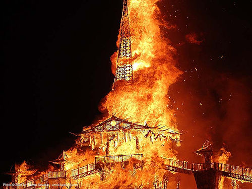 temple on fire - burning man 2004, burning man, fire, night, temple burn, temple burning