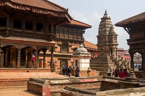 temples on bhaktapur durbar square (nepal), bhaktapur, cistern, durbar square, hinduism, vatsala durga