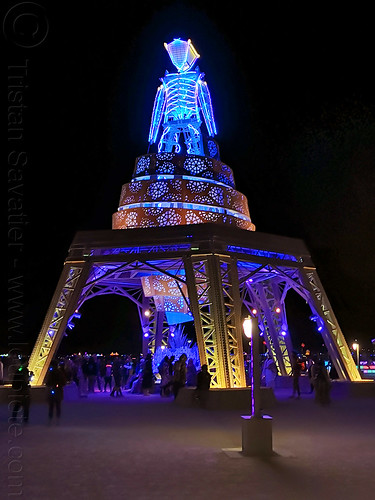 the man at night - burning man 2019