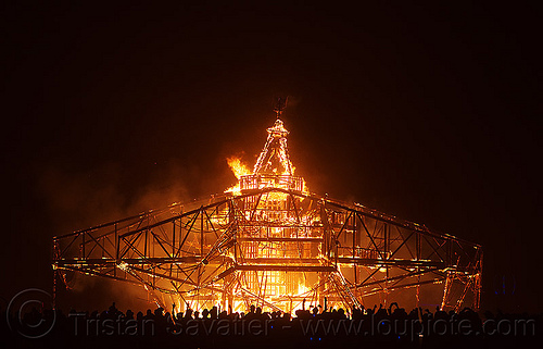 the man is burning - burning man 2013, burning man, fire, night of the burn, the man