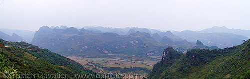 Tình Túc (tinh tuc) tin mine area landscape - vietnam, mountains, open pit mine, open pit surface mine, open-cut mine, opencast mine, panorama, photo stitching, strip mine, tin mine, tinh tuc, tình túc, vietnam