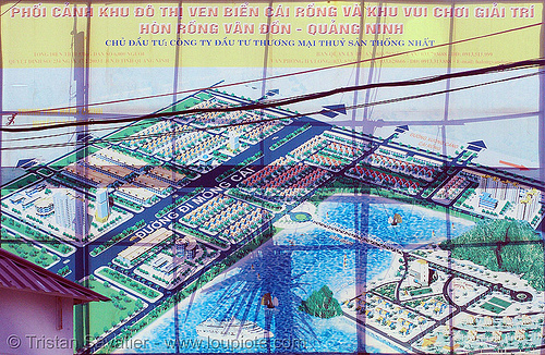 touristic development site - vietnam, sign, urban development, urban planning