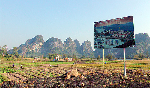 touristic urban development site - sign (cai rong, vietnam), sign, urban development, urban planning, vietnam