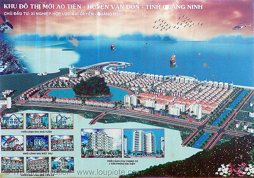 touristic urban development site - vietnam, sign, urban development, urban planning, vietnam